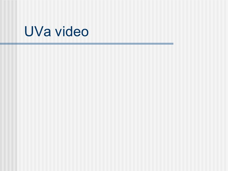 UVa video