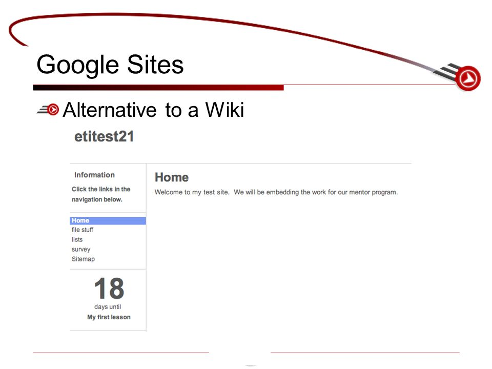 Google Sites Alternative to a Wiki