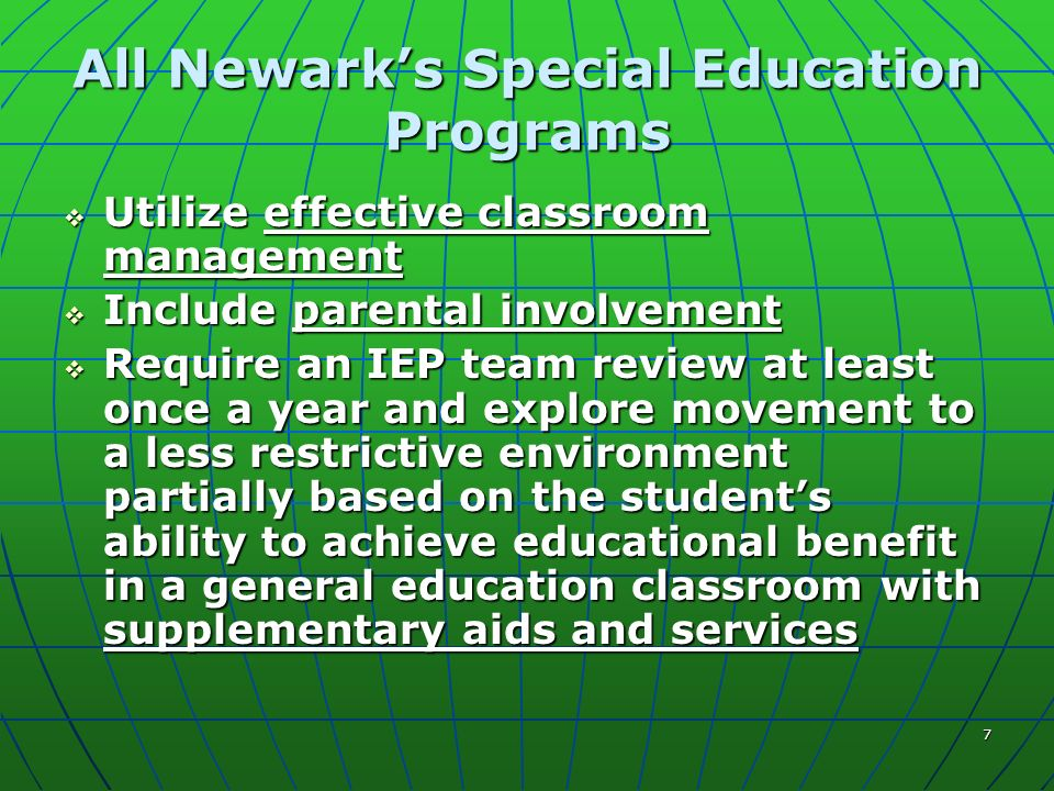 8 What Determines the Inclusiveness of a Special Education Program.