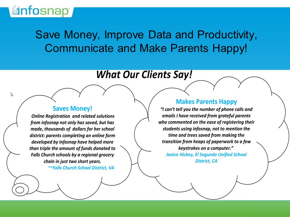 Save Money, Improve Data and Productivity, Communicate and Make Parents Happy!