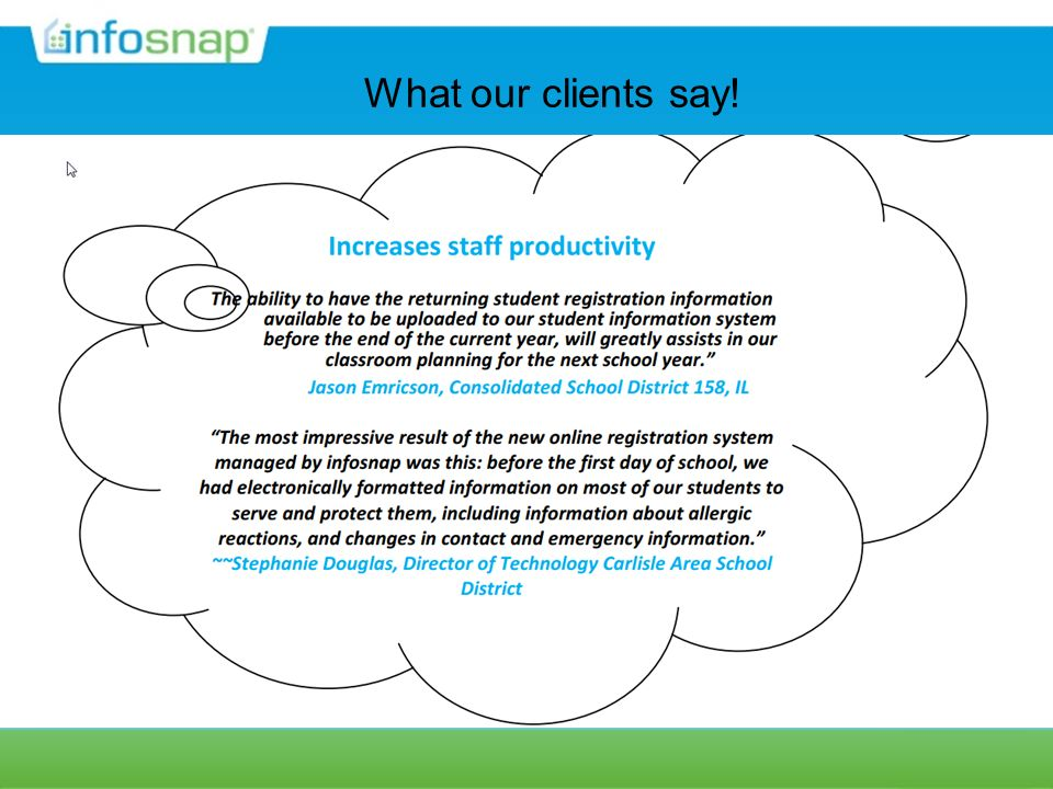 What our clients say!