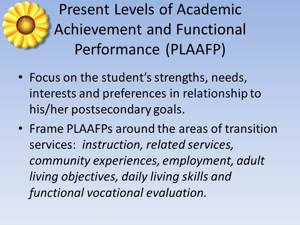 Courses of Study (Age 14) Courses of study are a multi-year description of coursework to achieve the students desired postsecondary goals.