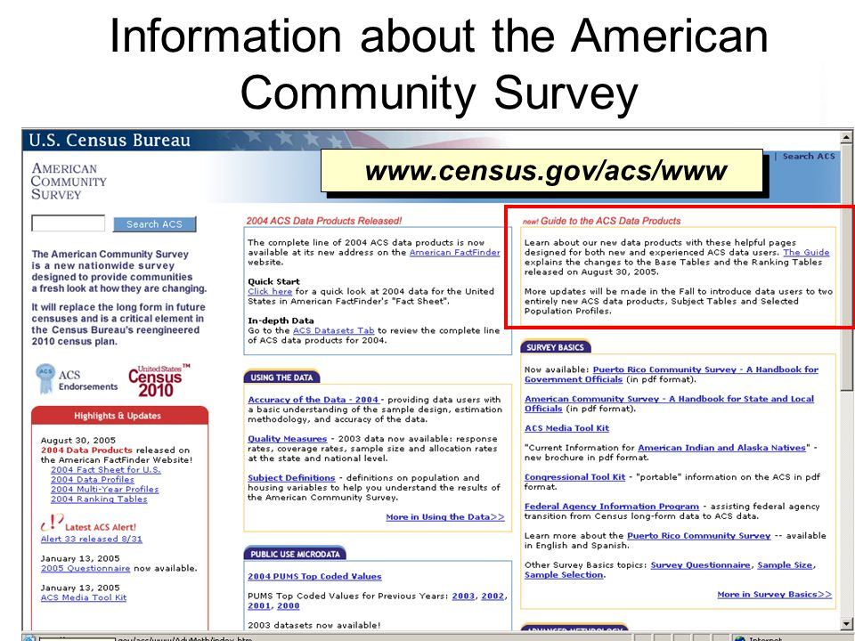 43 Information about the American Community Survey