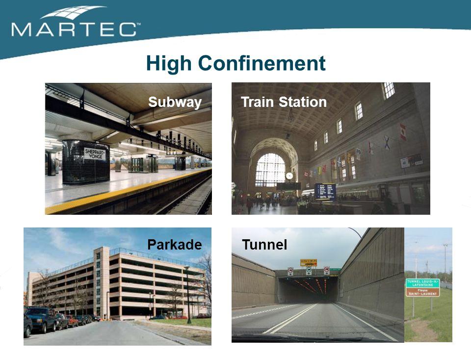 High Confinement Train StationSubway TunnelParkade
