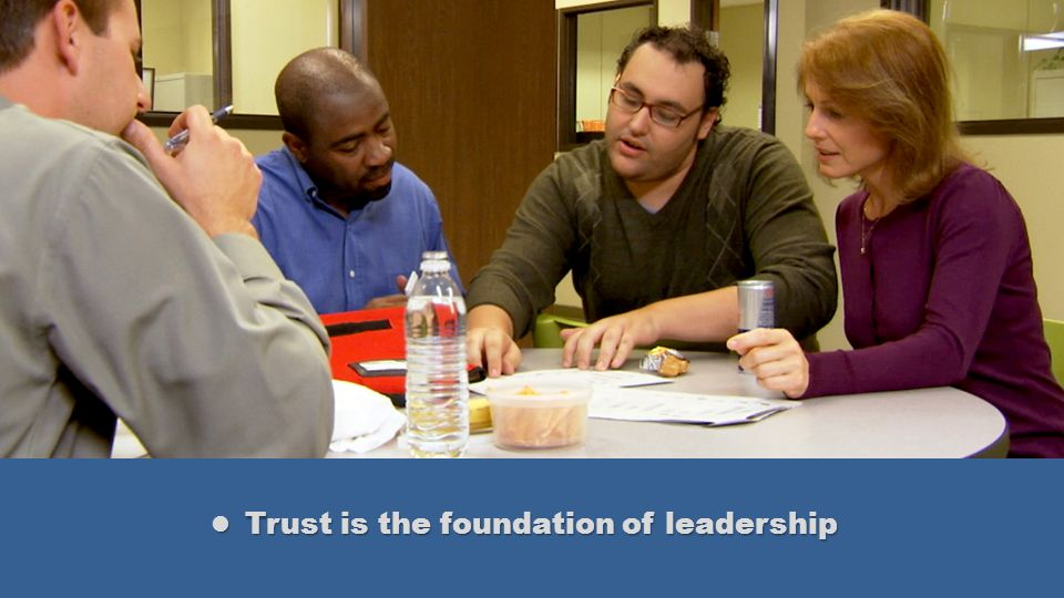 Trust is the foundation of leadership Trust is the foundation of leadership