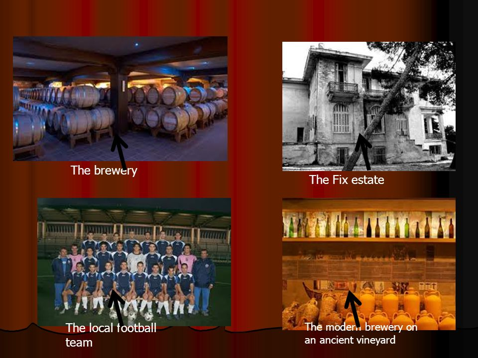 The brewery The Fix estate The local football team The modern brewery on an ancient vineyard