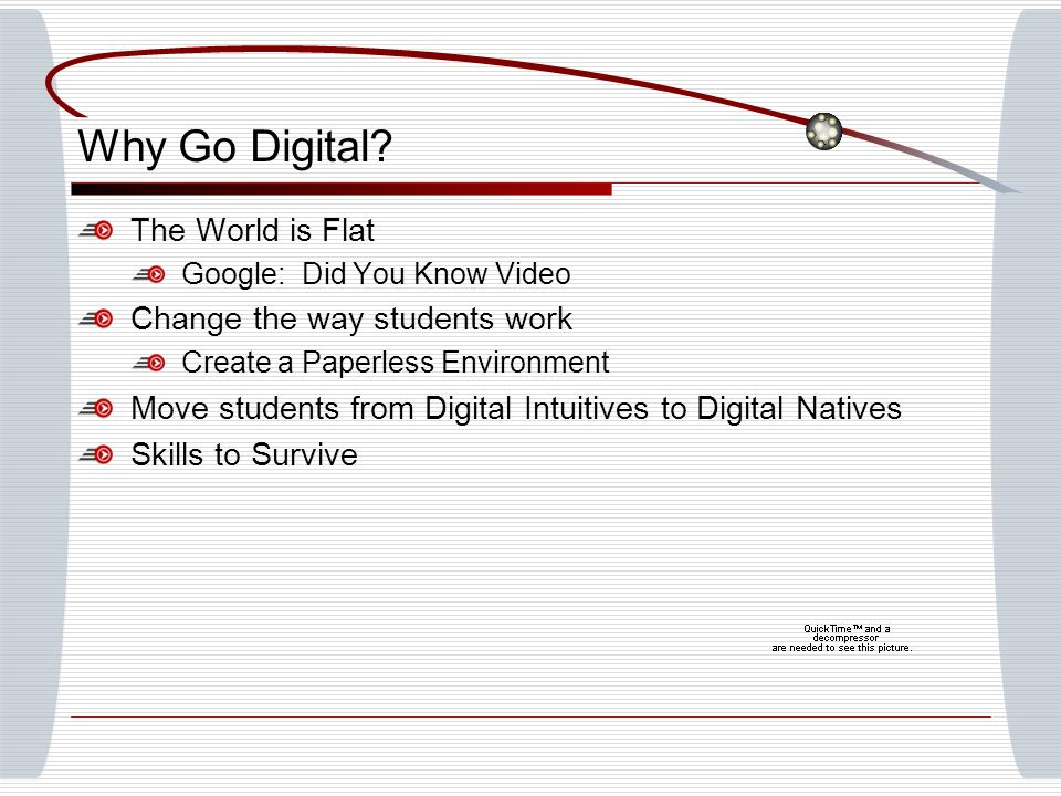 Why Go Digital.