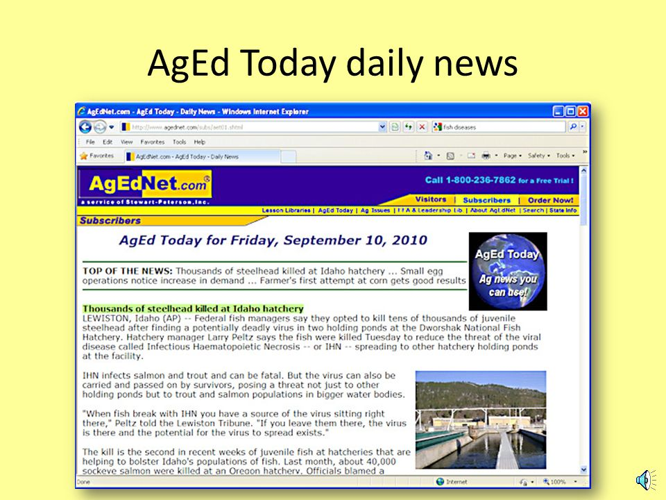 AgEd Today, ag news you can use