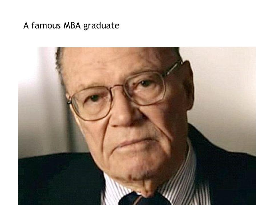 A famous MBA graduate
