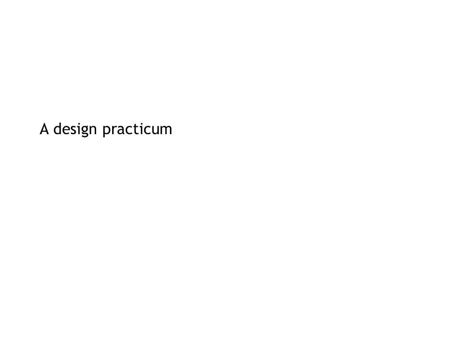 A design practicum