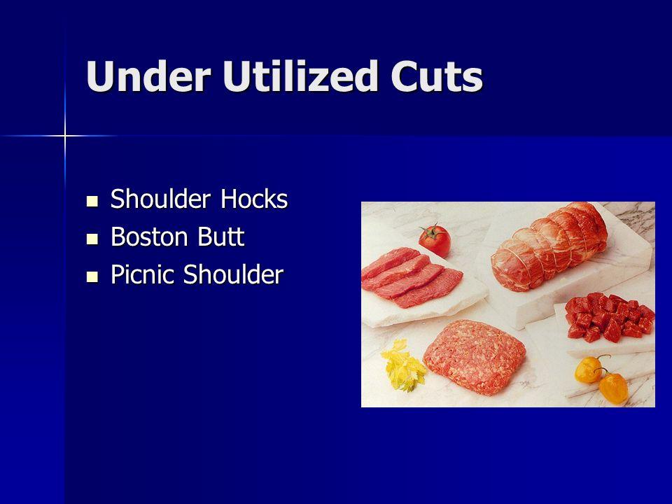 Under Utilized Cuts Shoulder Hocks Shoulder Hocks Boston Butt Boston Butt Picnic Shoulder Picnic Shoulder