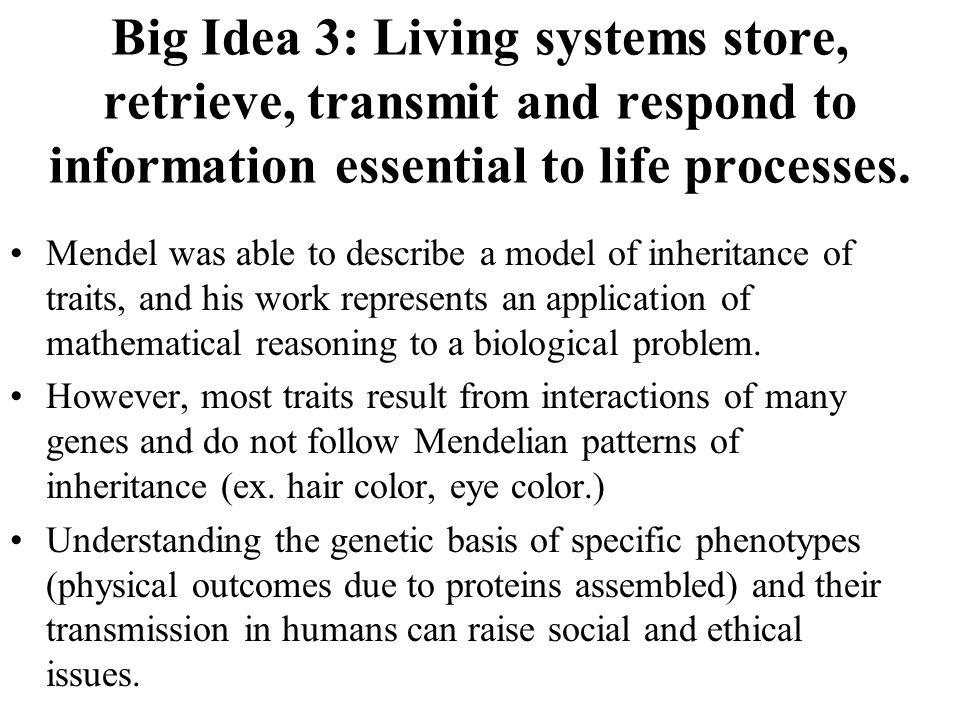 In modern terms: 1.Mendels factors are called genes.