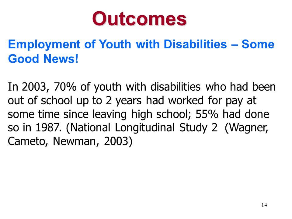 13 Only 29% of Americans with disabilities aged 18 to 64 are working, compared to 79% of Americans without disabilities in this age category. (Harris