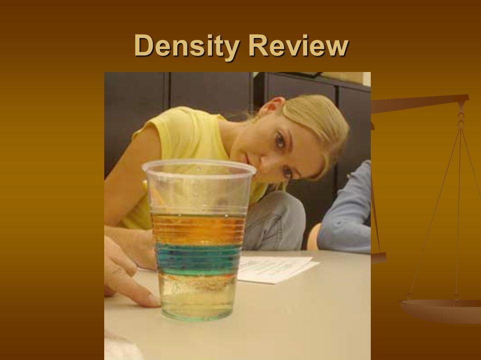 Density Review
