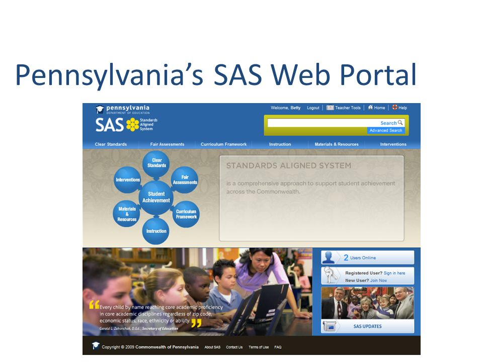Pennsylvanias SAS Web Portal