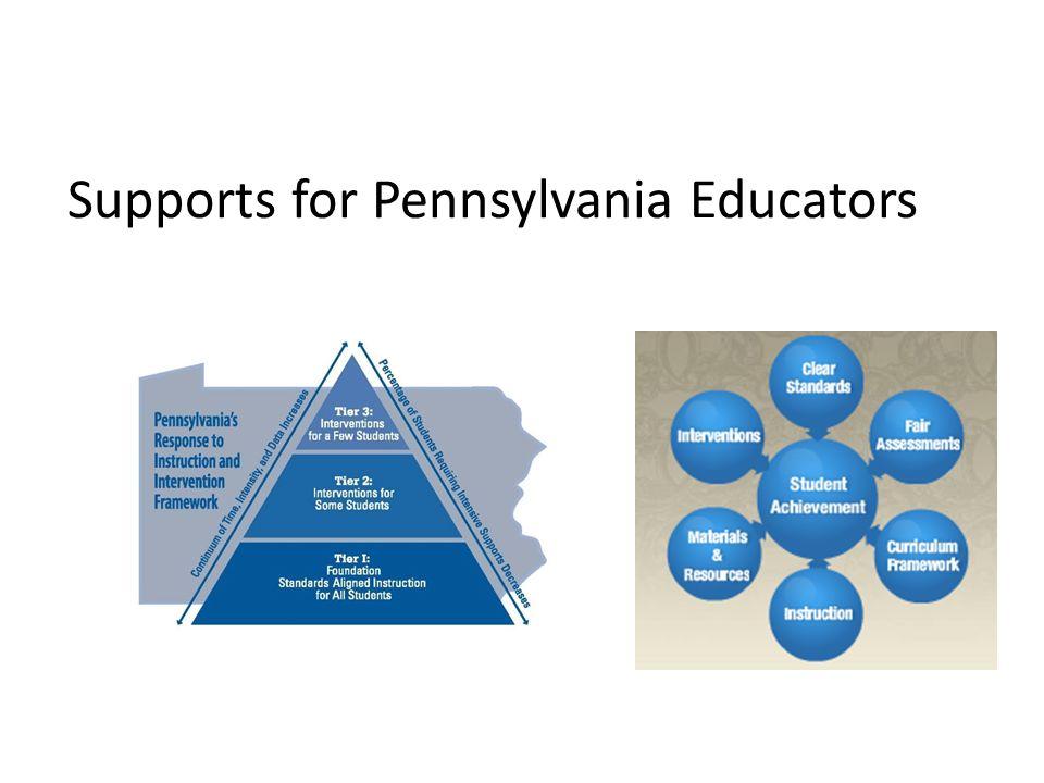 Supports for Pennsylvania Educators