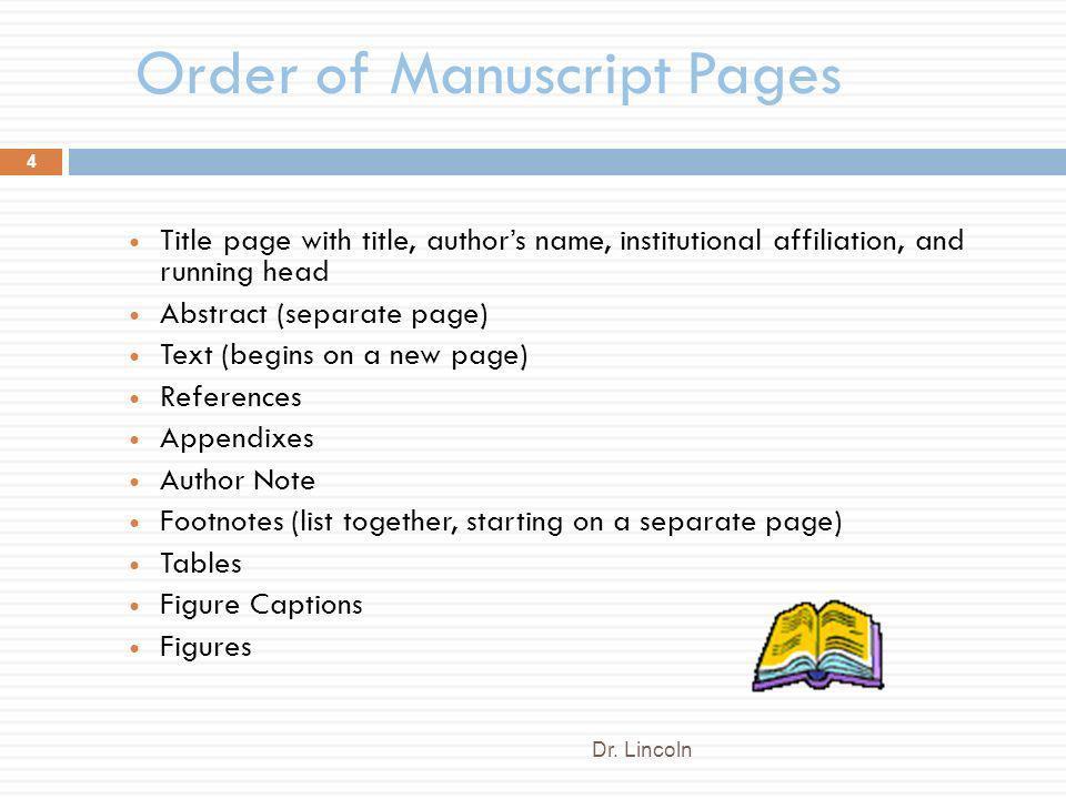 apa psychology paper format