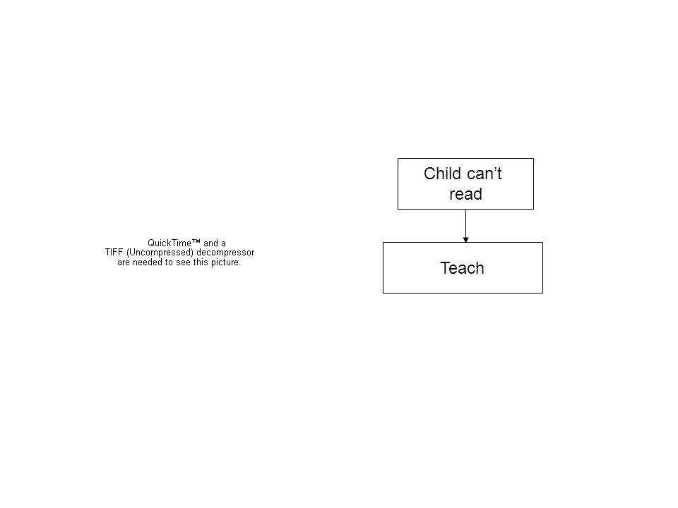 Child cant read Teach