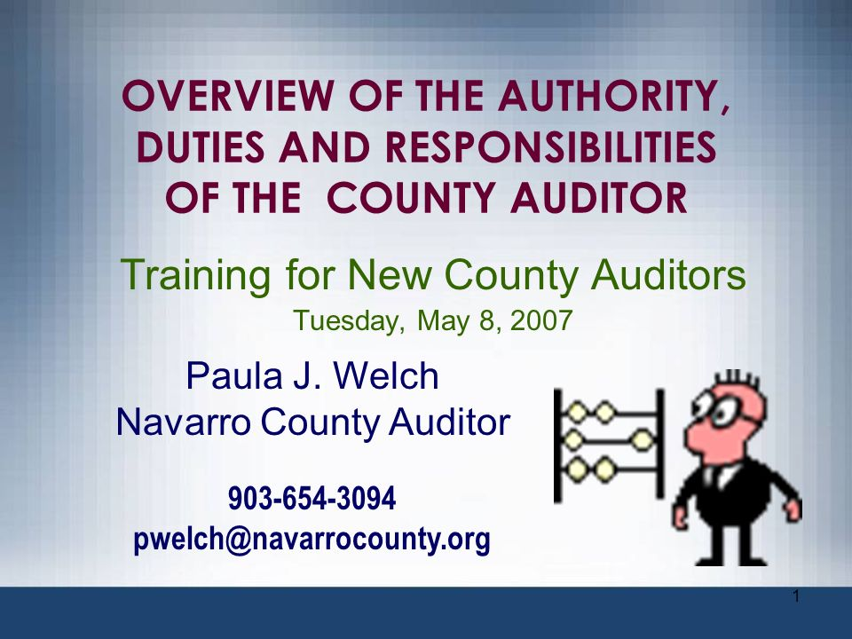 52 BUDGETING County auditor is the budget officer in some counties.