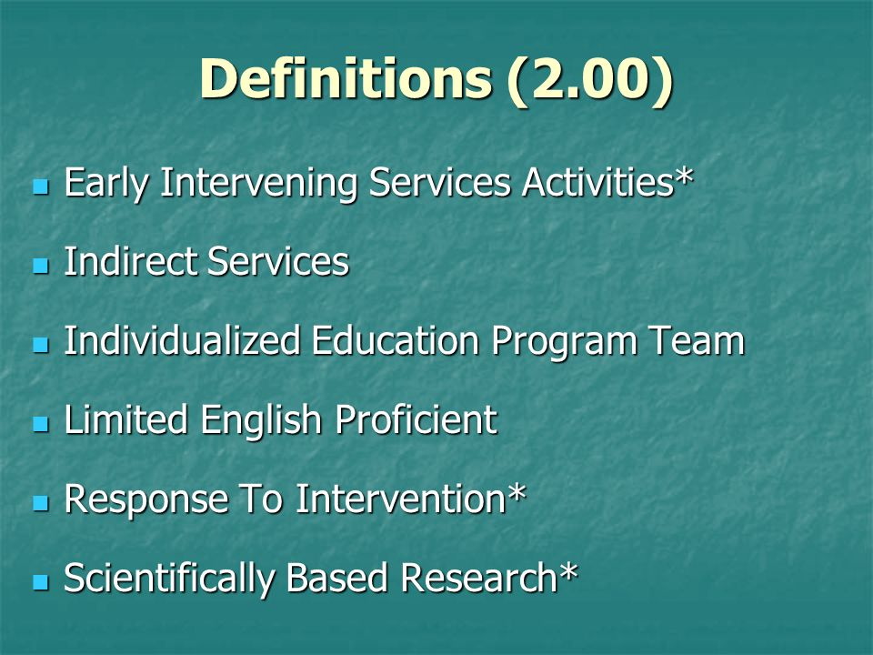 Eligibility Criteria for SLI Operational Definition (Part I, H.) Operational Definition (Part I, H.) Speech or Language Impairment means a communication disorder such as deviant articulation, fluency, voice, and/or comprehension and/or expression of language, spoken or written, which impedes the child s acquisition of basic cognitive and/or affective skills, as reflected in the Arkansas Department of Education curriculum standards.