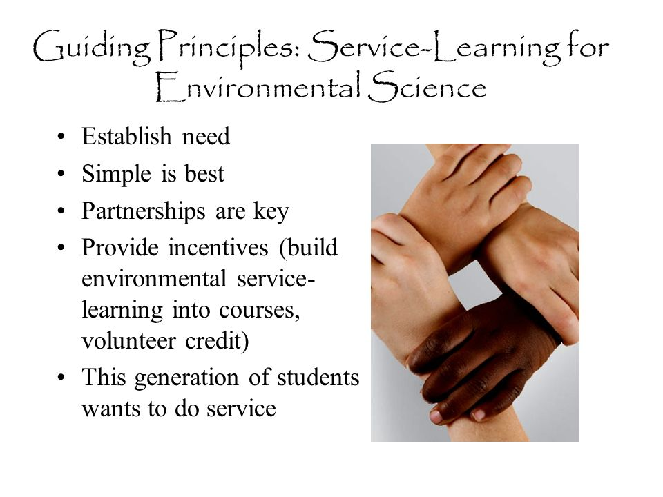 Establish need Simple is best Partnerships are key Provide incentives (build environmental service- learning into courses, volunteer credit) This gene