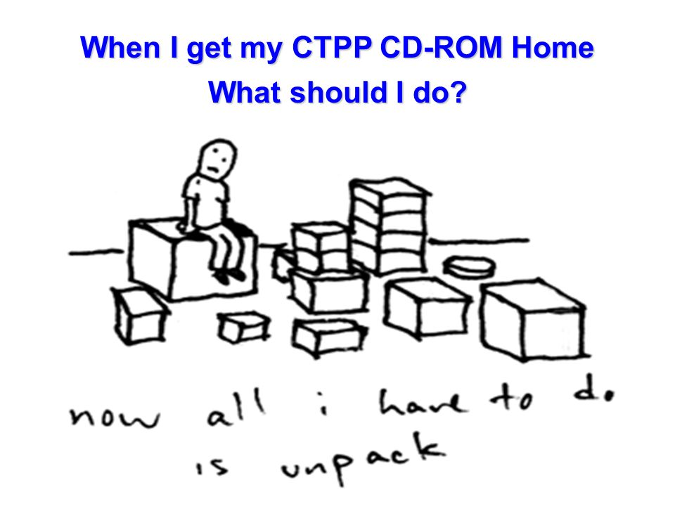 When I get my CTPP CD-ROM Home What should I do