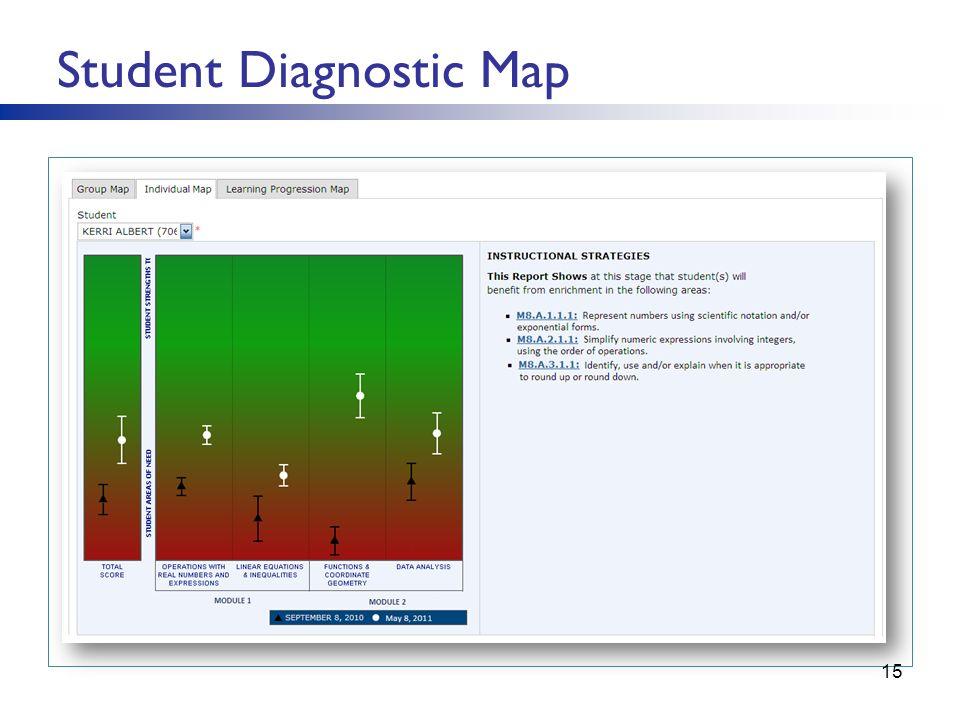 Student Diagnostic Map 15