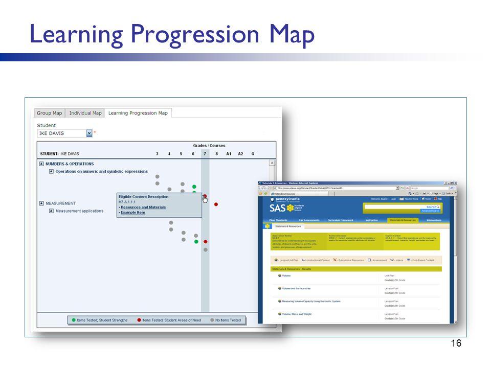 Learning Progression Map 16