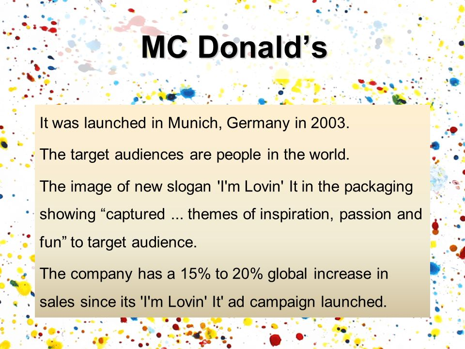 It was launched in Munich, Germany in 2003.The target audiences are people in the world.