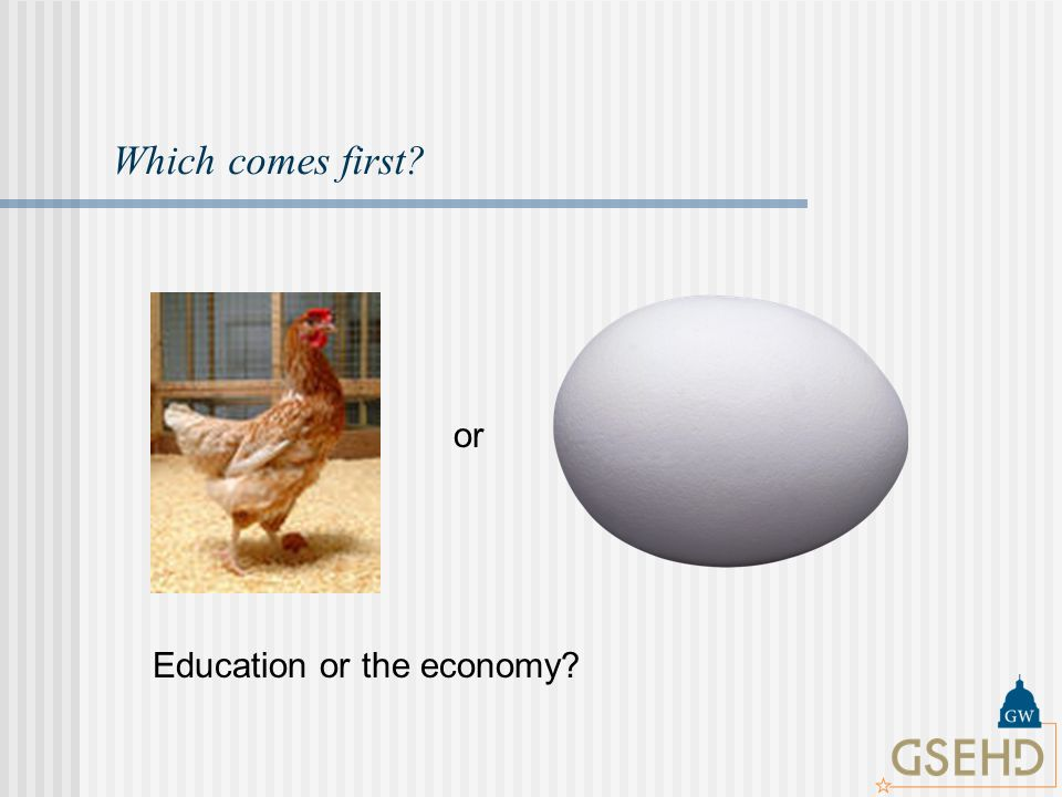 Which comes first or Education or the economy