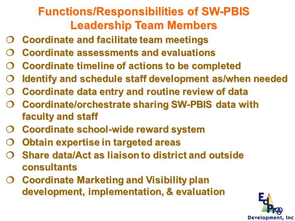 Coordinate and facilitate team meetings Coordinate and facilitate team meetings Coordinate assessments and evaluations Coordinate assessments and eval