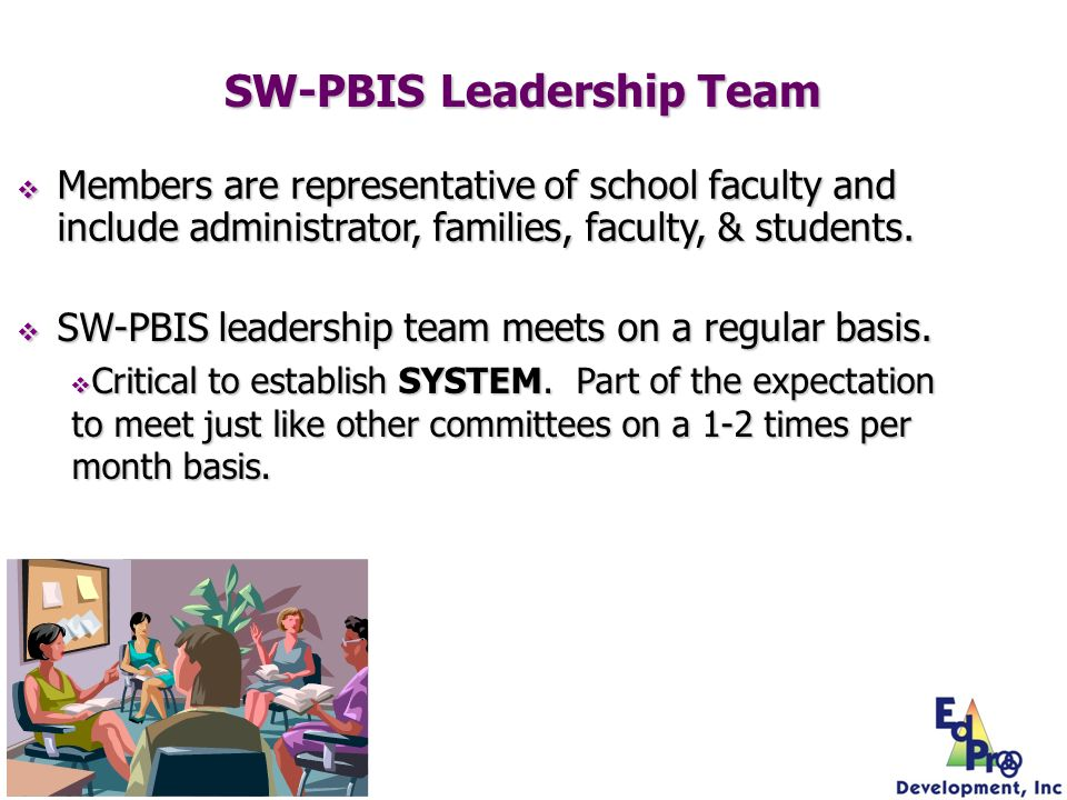 Members are representative of school faculty and include administrator, families, faculty, & students. Members are representative of school faculty an