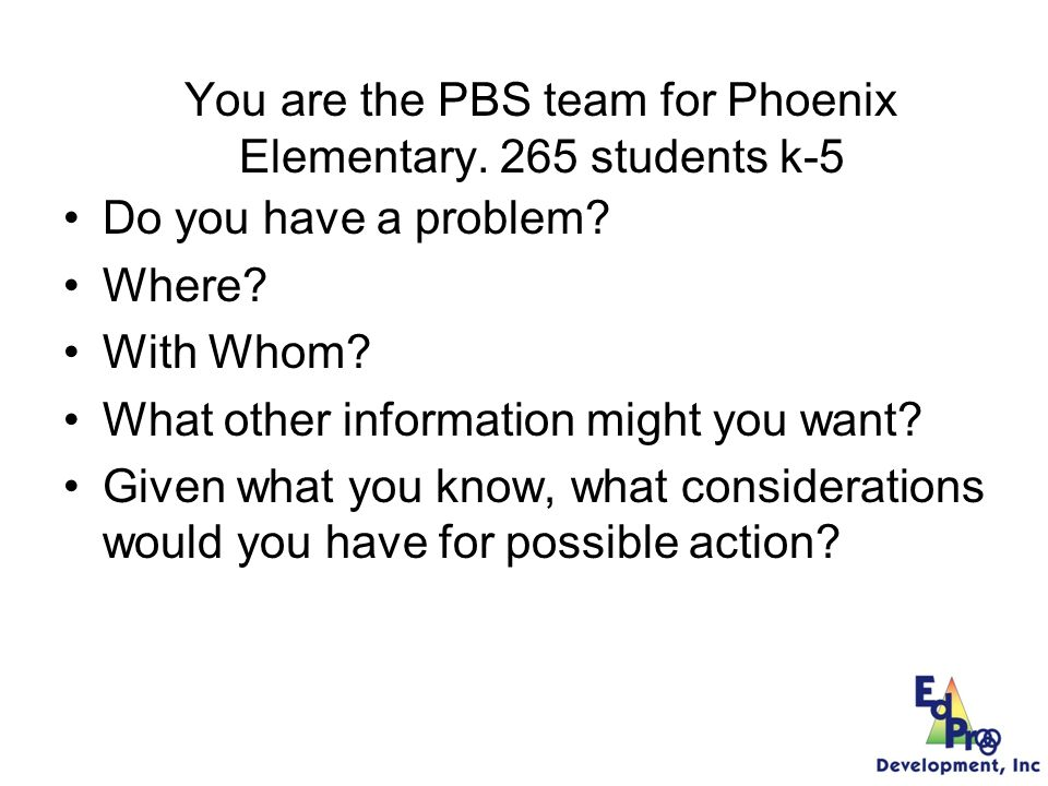 Phoenix Elementary Using Data For Decision-Making