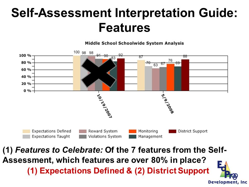 Self-Assessment Data Review Manual: Self-Assessment vs.