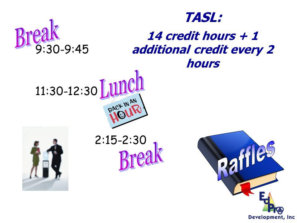 9:30-9:45 11:30-12:30