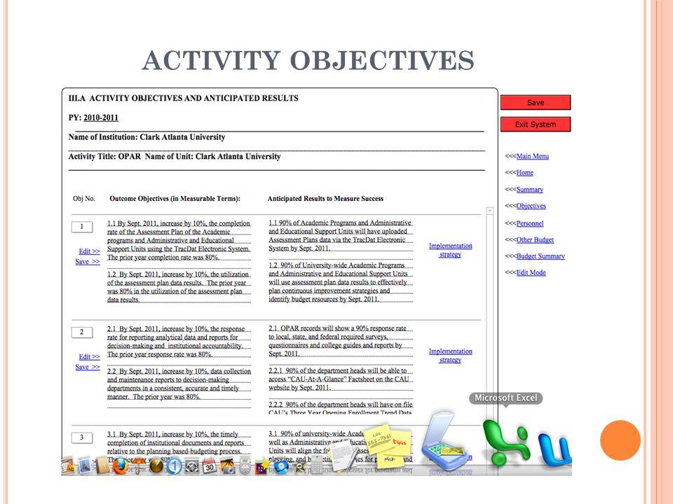 ACTIVITY DIRECTORS MENU
