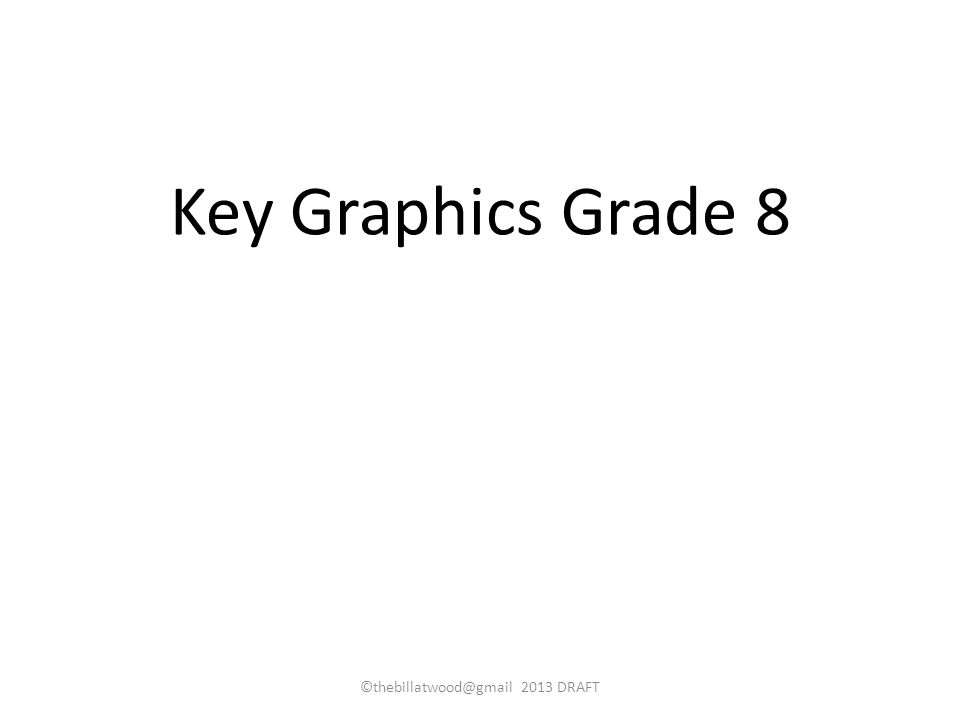 Key Graphics Grade 8 ©thebillatwood@gmail 2013 DRAFT