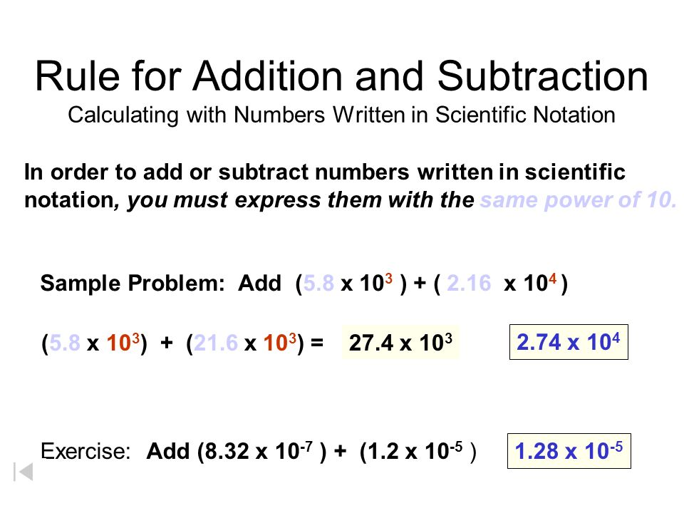 Adding And Subtracting Scientific Notation Worksheets Worksheets