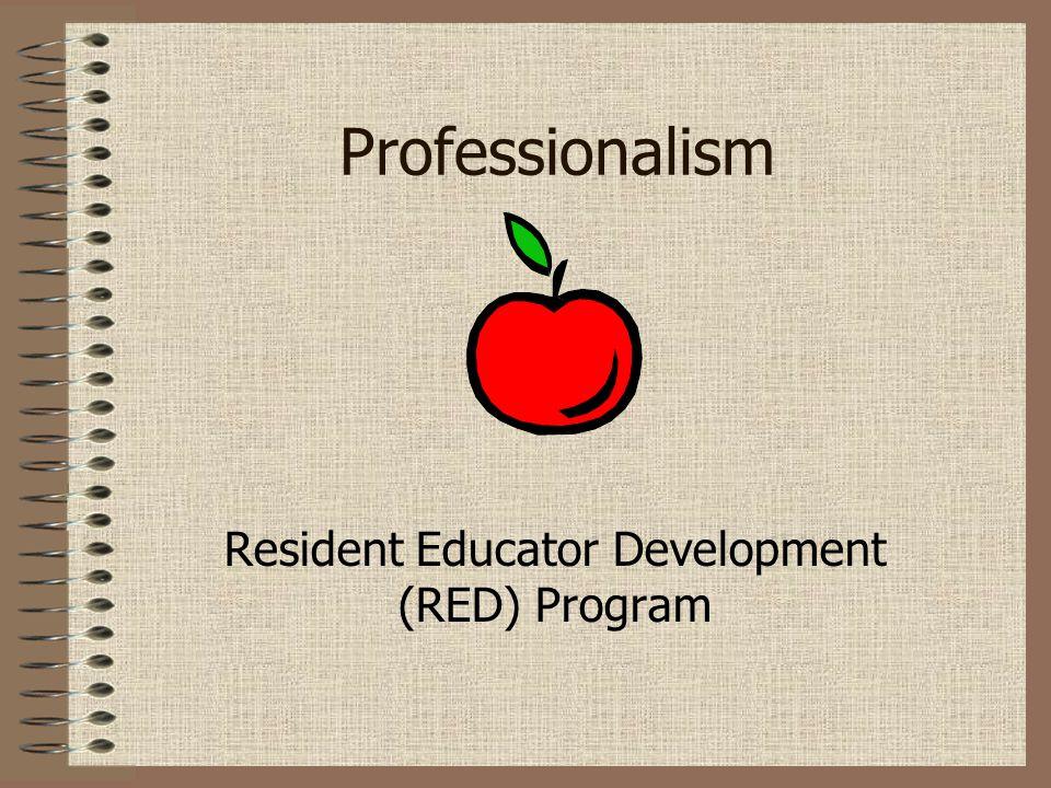 Professionalism Resident Educator Development (RED) Program