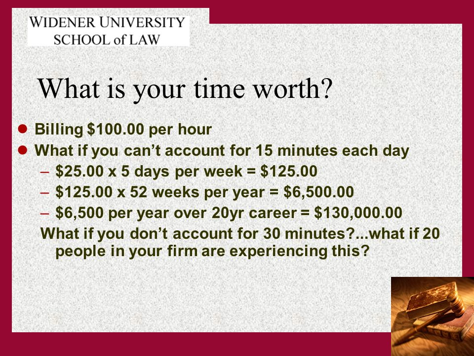 What is your time worth.