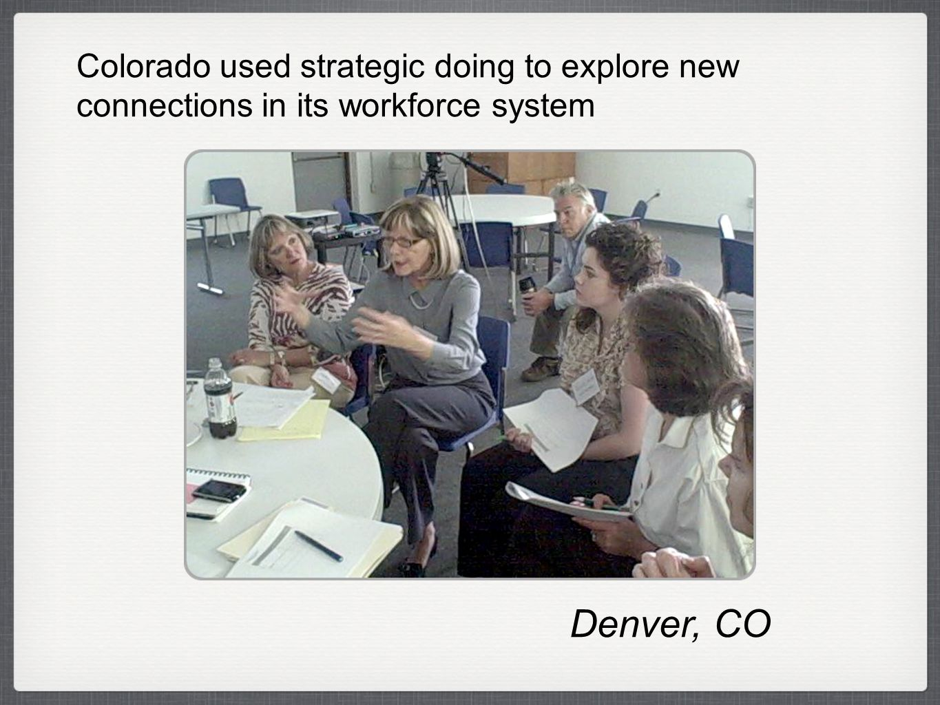 Denver, CO Colorado used strategic doing to explore new connections in its workforce system
