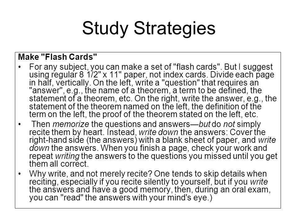 Study Strategies Make