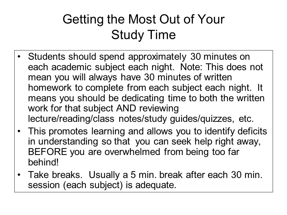 30 minutes a night for 10 nights IS NOT the same as 5 hours focused on one subject in one night or even over a couple of nights.