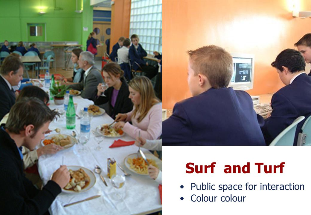 Surf and Turf Public space for interaction Colour colour