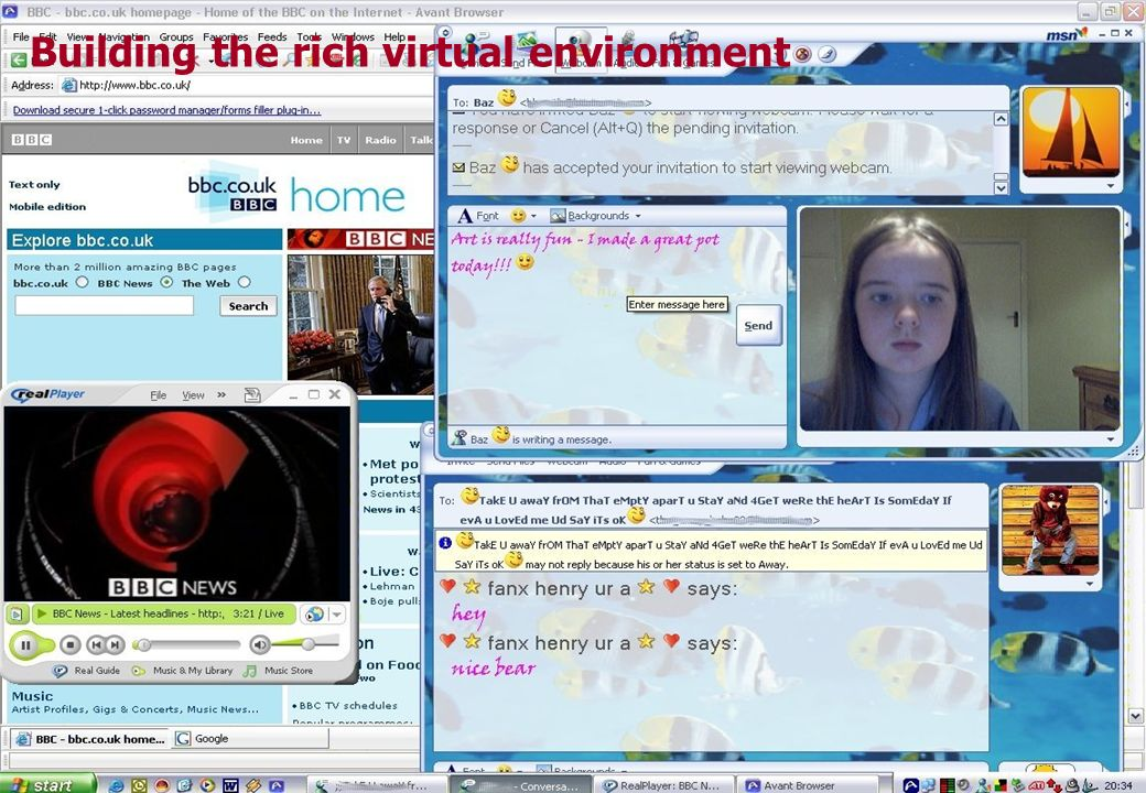 Building the rich virtual environment
