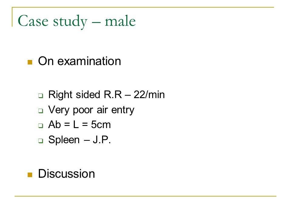 Prescriptions Doxycycline Co-trimoxazole Tests performed FBC U&E LFT HIV – Viral load count CD4 count Case study – male