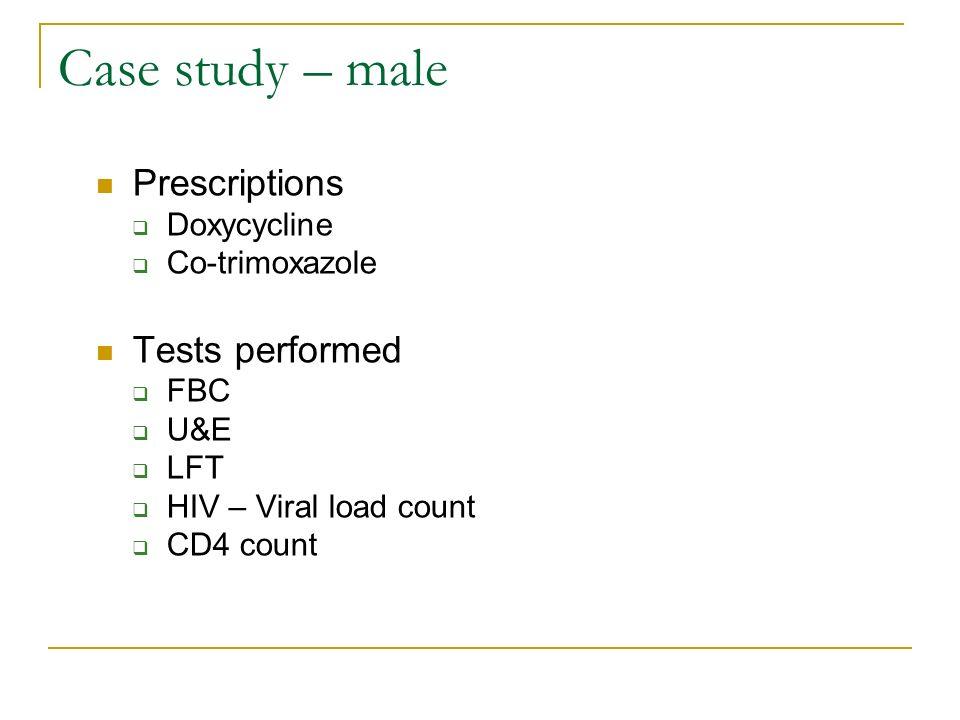 HAART Case study – male
