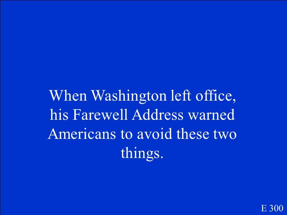 Who is George Washington? E 200
