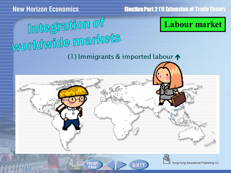 Elective Part 2 (1) Extension of Trade Theory (1) Immigrants & imported labour Labour market