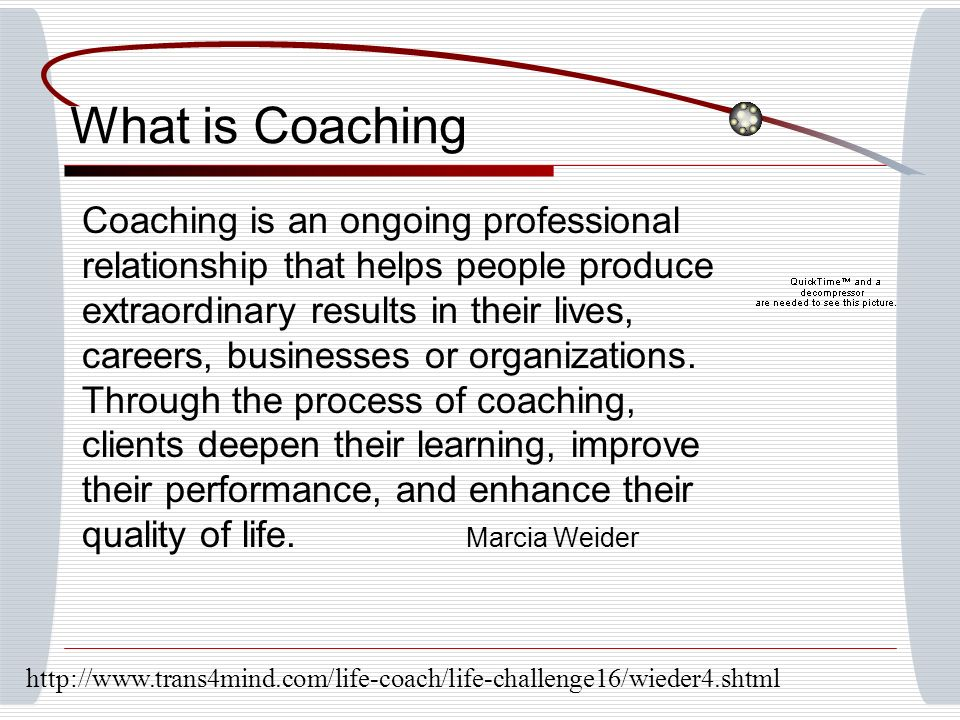 What is Coaching Coaching is an ongoing professional relationship that helps people produce extraordinary results in their lives, careers, businesses